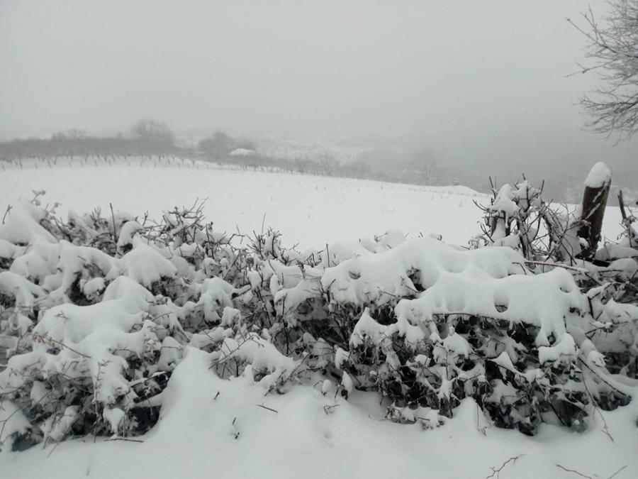 Облачно и јак снег